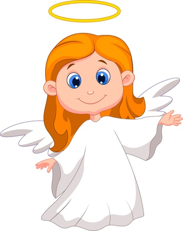 christmas angels: Cute angel cartoon