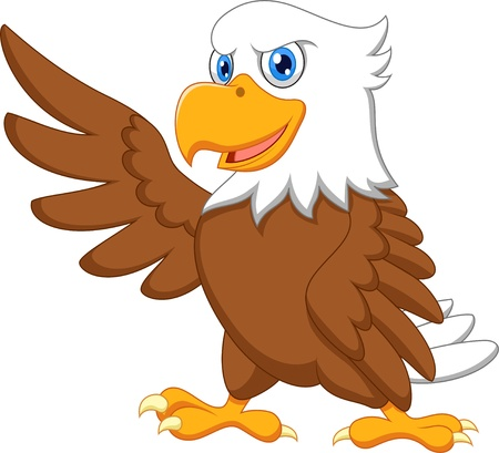 Eagle cartoon waving Stok Fotoğraf - 20753987