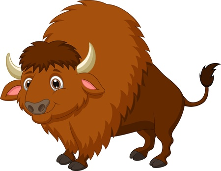 Bison cartoon  向量圖像