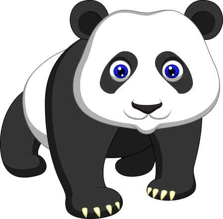 Cute panda cartoon  Vector