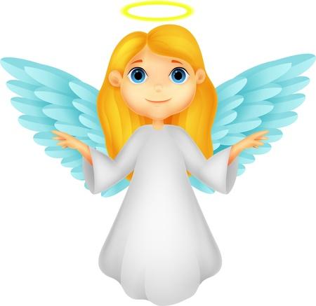 귀여운 천사 만화 일러스트