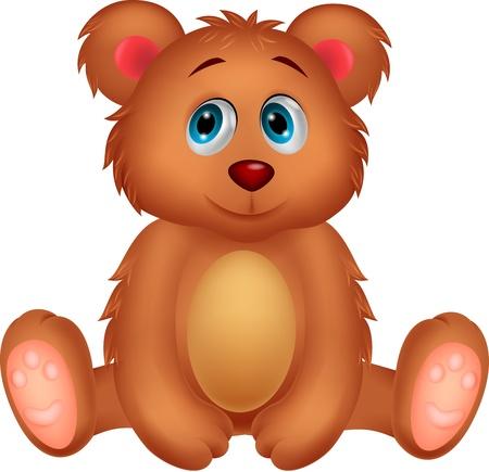 bear cub: Cute baby bear cartoon