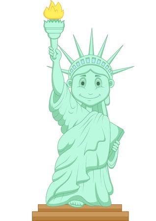 illustration: Liberty statue cartoon  Illustration
