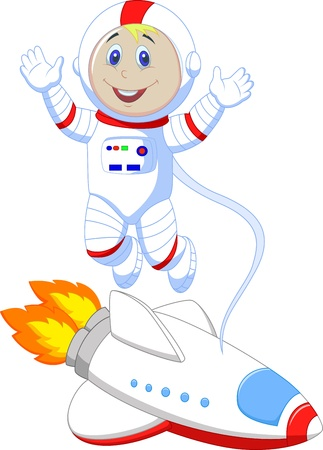 Cute astronaut cartoon  Vector