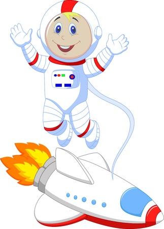 spacesuit: Cute astronaut cartoon