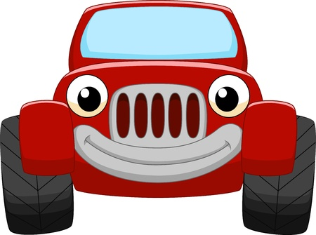 Red car cartoon  Vector