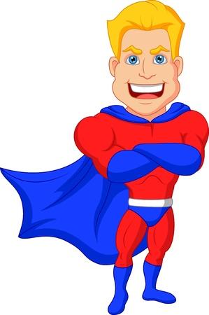 streaking: Superhero cartoon posing