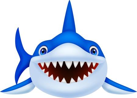 Cute shark cartoon Stock Vector - 21063036