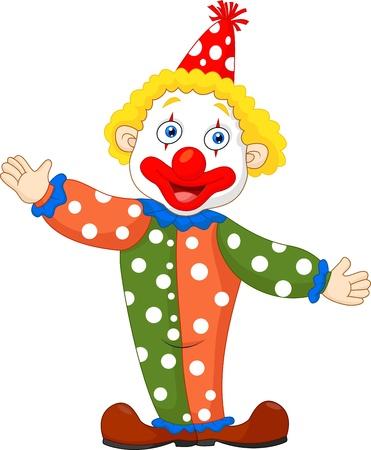 Leuke clown cartoon Stock Illustratie