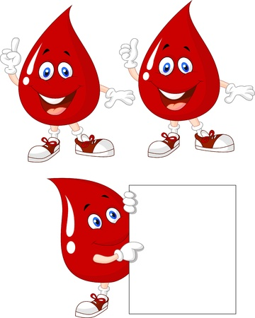 Blood cartoon character collection set Vector