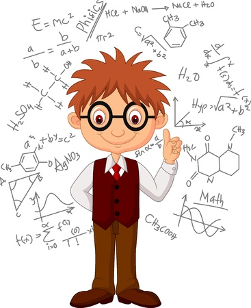 Smart boy cartoon Stock Vector - 21063047