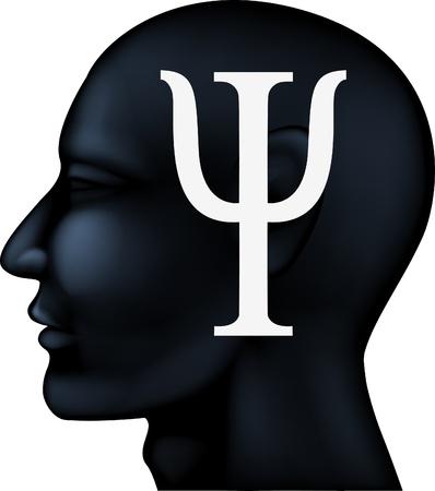 Psychiatrie Symbol auf Menschen Silhouette