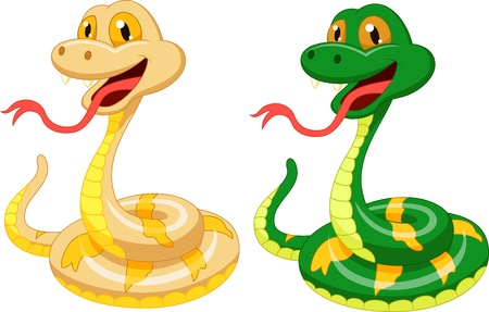 Cute snake cartoon Stock Vector - 21063109