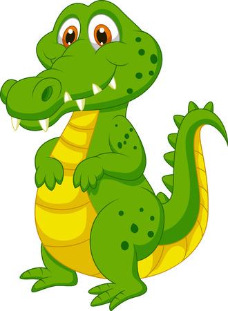 jacar�: Bonito dos desenhos animados de crocodilo Ilustra��o