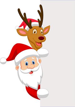 nariz roja: Historieta Santa y el reno rojo de la nariz