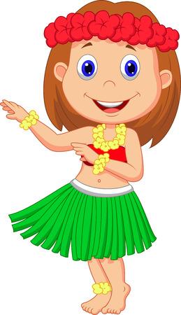faldas: Ni�a de la historieta de Hula
