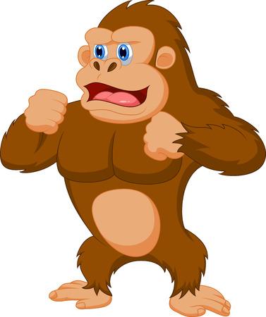 gorila: Gorila de dibujos animados