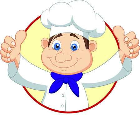 Chef cartoon with thumb up  Vector
