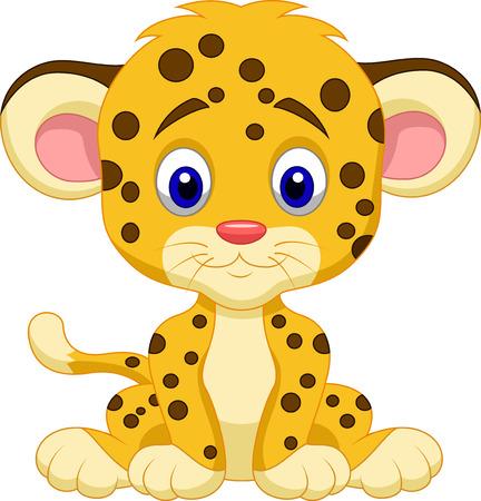 jaguar: Bebé leopardo de dibujos animados