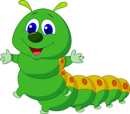 caterpillar worm: Cute caterpillar cartoon  Illustration