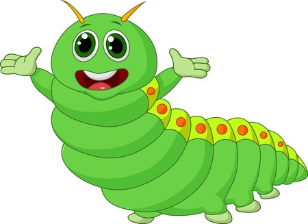 wriggle: Cute caterpillar cartoon  Illustration