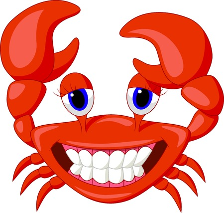 Cute crab cartoon  Stock Vector - 22467076