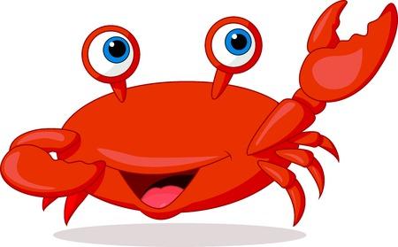 Cute crab cartoon  Vector