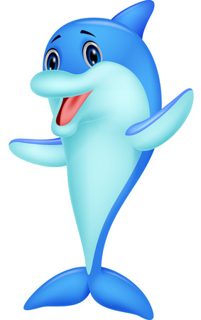 cetacean: Cute dolphin cartoon