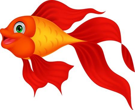 suave: Cute golden fish cartoon