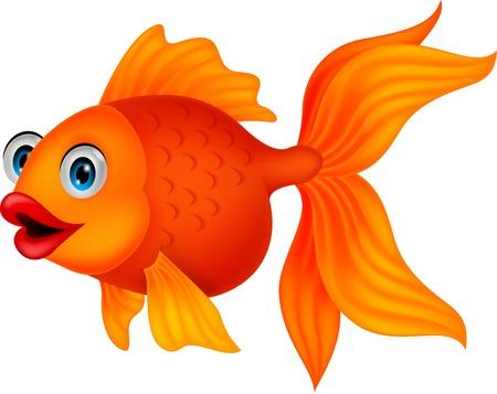 Cute dibujos animados de peces de oro Foto de archivo - 22637413