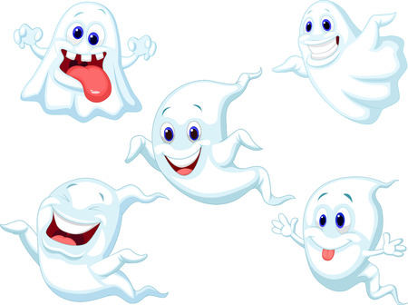 cute ghost: Cute ghost cartoon collection set  Illustration