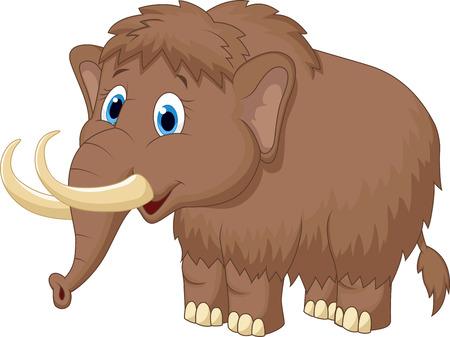 mammoth: Cute mammooth cartoon