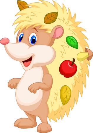 cartoon hedgehog: Cute hedgehog cartoon