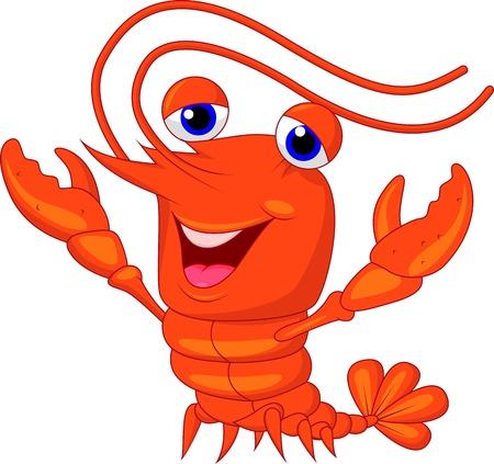 Cute lobster cartoon presenting  Vector