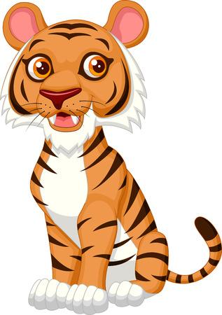 Cute tiger cartoon Vektorové ilustrace