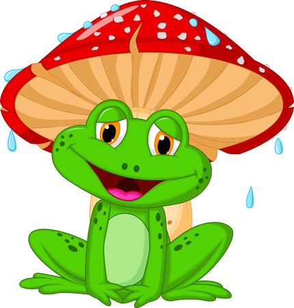 두꺼비 만화 버섯 스톡 콘텐츠 - 22731607