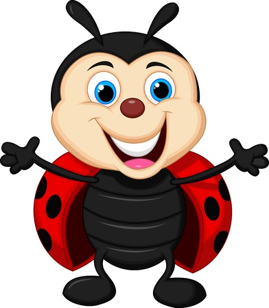 ladybug cartoon: Happy ladybug cartoon