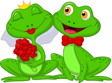leapfrog: Bride and Groom Frogs Cartoon Characters