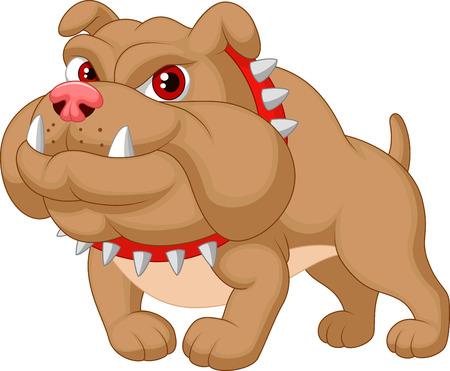 perro furioso: Bulldog historieta Vectores