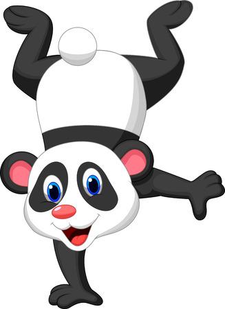 sorridente: Panda desenhos animados que est Ilustração
