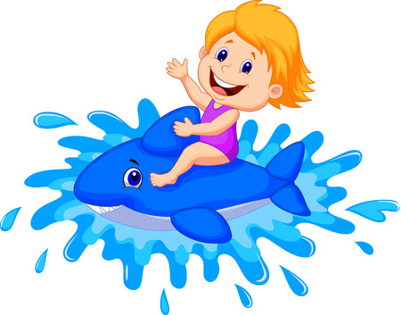 menina: Menina dos desenhos animados que joga com brinquedo nata