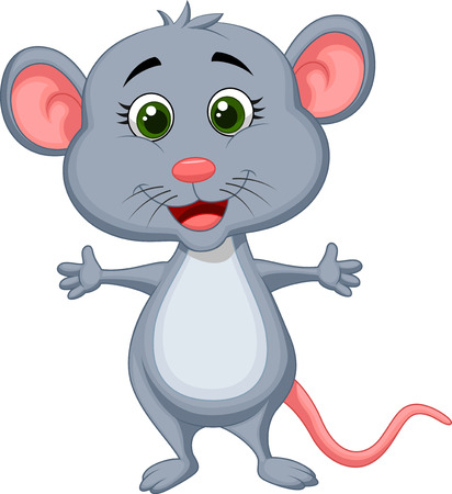 Cute mouse cartoon  Illustration