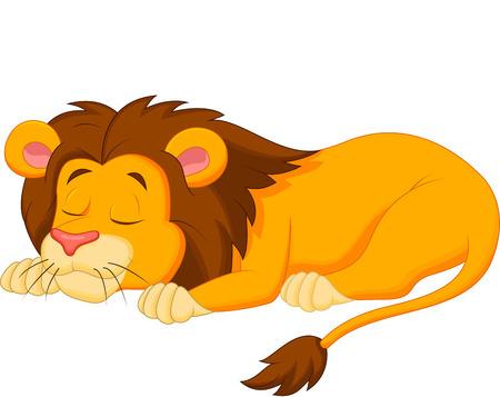 Leeuw cartoon slapen