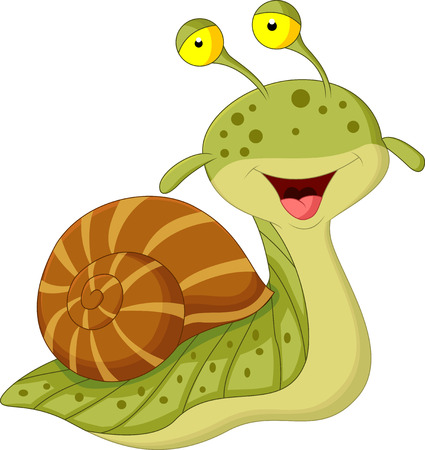 dna smile: Cute snail cartoon