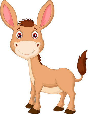 mule: Cute donkey cartoon