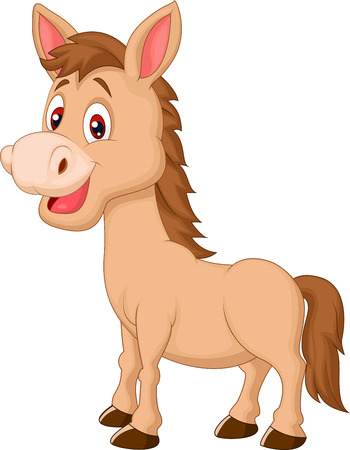 pony: Cute horse cartoon  Illustration