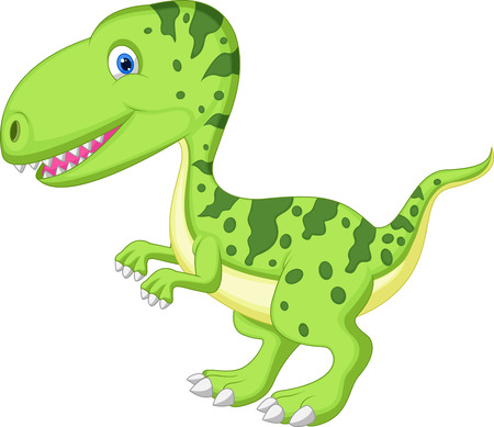 Cute dinosaur cartoon  Stock Vector - 23006592