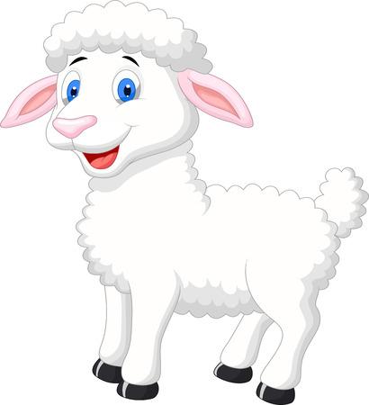 かわいい羊の漫画  イラスト・ベクター素材