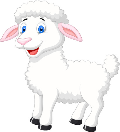 Cute sheep cartoon  Ilustrace