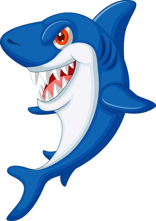 Cute shark cartoon  Vector